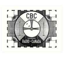 Test Pattern CBC Art Print