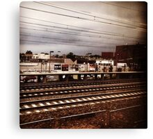 New Jersey Grey Canvas Print