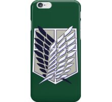 Wings Of Freedom- Attack On Titan  iPhone Case/Skin
