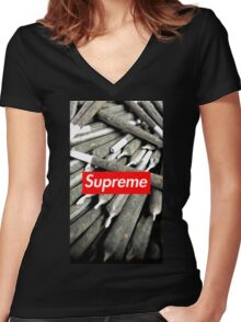 Supreme Women's Fitted V-Neck T-Shirt