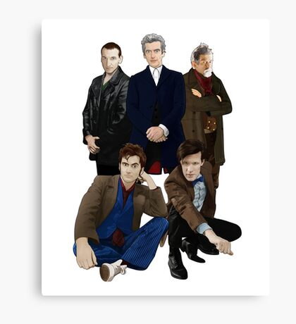Doctor Who - The Doctors Canvas Print