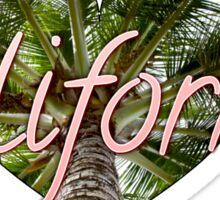 California Palm Tree Heart Sticker