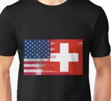 Swiss American Half Switzerland Half America Flag Unisex T-Shirt