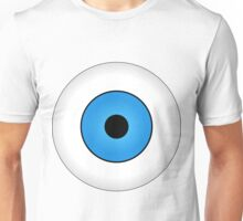 Eyes blue body face human Unisex T-Shirt