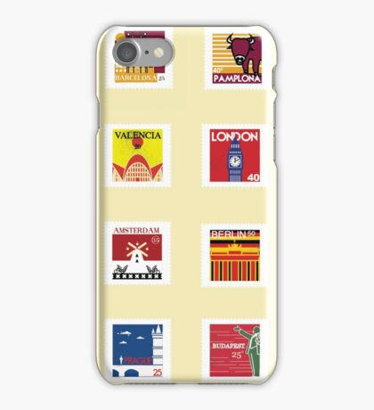 EuroTrip Stamps iPhone Case/Skin