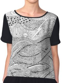 Boldness - duco divina doodle Chiffon Top