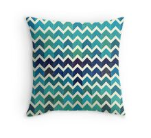 Watercolor Chevron Pattern IV Throw Pillow