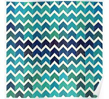 Watercolor Chevron Pattern IV Poster