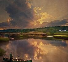 End of Day, Sheepscot, Maine by Dave  Higgins