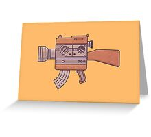 Camera Gun Greeting Card