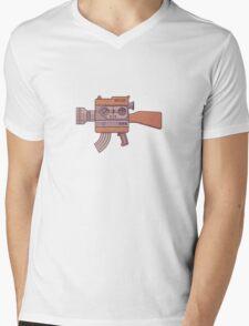 Camera Gun Mens V-Neck T-Shirt
