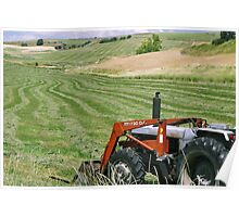 Tractor made Designs ~Country Landscape Poster