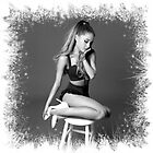 Ariana Grande greyscale by sharonguyen