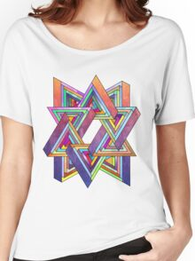 Abstract Triangles Women's Relaxed Fit T-Shirt