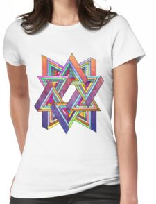 Abstract Triangles Womens Fitted T-Shirt