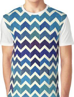 Watercolor Chevron Pattern V Graphic T-Shirt