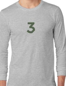 Chance the Rapper - Chance 3 Coloring Book Olive Long Sleeve T-Shirt