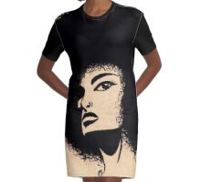 Natural Ink Graphic T-Shirt Dress