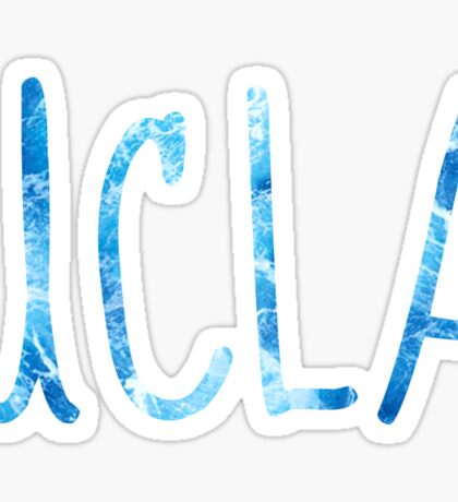 UCLA Blue Ocean Waves Sticker