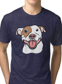 Happy Go Lucky Pit  Tri-blend T-Shirt