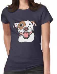 Happy Go Lucky Pit  Womens Fitted T-Shirt