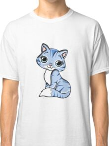 Animal Blue Cartoon Cat Feline Pet Classic T-Shirt