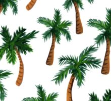 Palm Tree Print Sticker