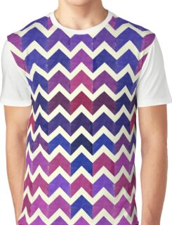 Watercolor Chevron Pattern VI Graphic T-Shirt