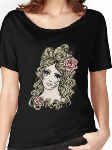 Roses beauty Women's Relaxed Fit T-Shirt