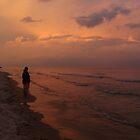Sunset on Lake Michigan by Timothy  Ruf