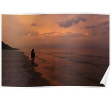 Sunset on Lake Michigan Poster