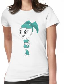 Teenage Robot Chibi Womens Fitted T-Shirt