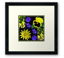 Bright and Beautiful Floral Collage Framed Print