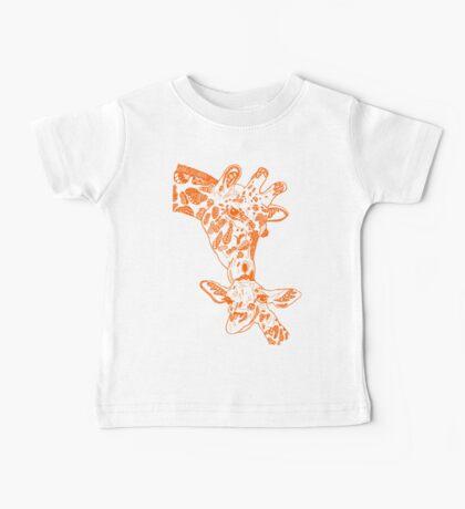 Giraffe Orange Baby Tee