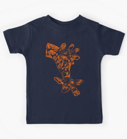 Giraffe Orange Kids Tee