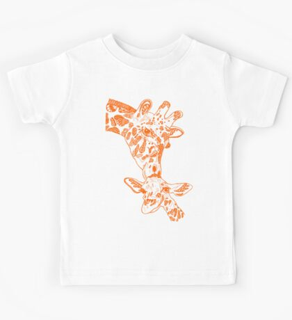 Giraffe Orange Kids Tee