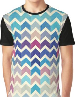 Watercolor Chevron Pattern VIII Graphic T-Shirt