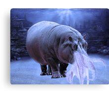 Hippo-Squid Fantasy Creature Canvas Print