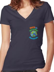 Create World Peace ~ 2 Women's Fitted V-Neck T-Shirt