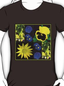 Bright and Beautiful Floral Collage T-Shirt