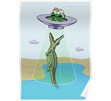Alien Abduction Trauma (crocodile edition) Poster