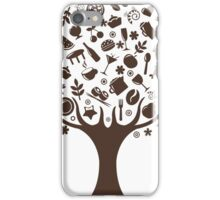 Tree with icons that make the image leaves and branches iPhone Case/Skin
