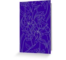 Blueprint Floral Greeting Card