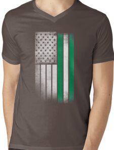 Nigerian American Flag Mens V-Neck T-Shirt