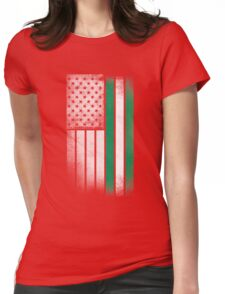 Nigerian American Flag Womens Fitted T-Shirt