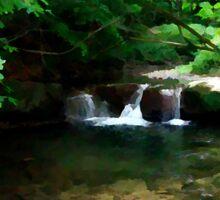 Summer in Obanya valley , Mecsek Hills Sticker