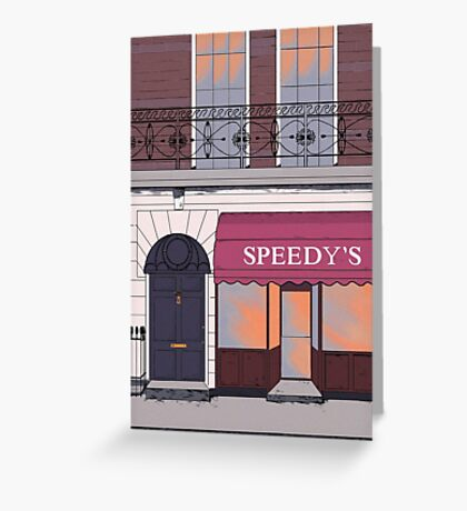 BBC Sherlock- 221b Baker Street Greeting Card