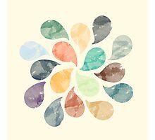Watercolor Water Drops Photographic Print
