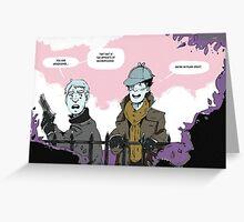 Sherlock Holmes- Deerstalker Greeting Card