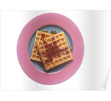 Waffles With Syrup Poster